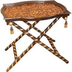Faux Finished Tortoiseshell Tray Table