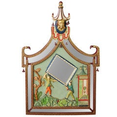 Brighton Pavilion Style Relief Mounted Framed Mirror