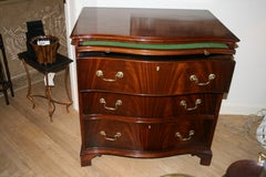 George III Mahogany Serpentine-Fronted Chest of Drawers