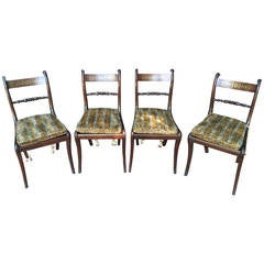 Set of Four Regency Rosewood Side Chairs