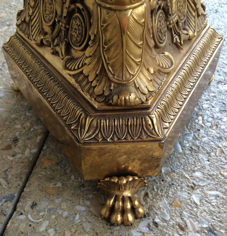19th Century Charles X Bronze Doré Centerpiece For Sale