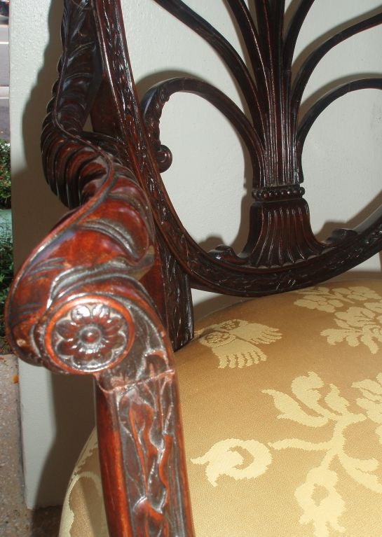 Pair of Spider Back Mahogany Arm Chairs 7