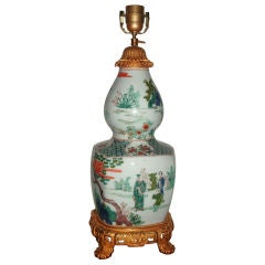 Famille Verte Vase Mounted Lamp