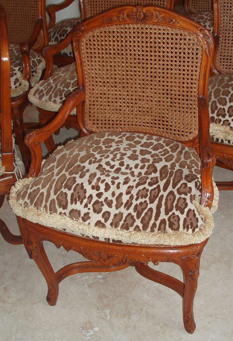French Set of Eight Louis XV Style Armchairs For Sale