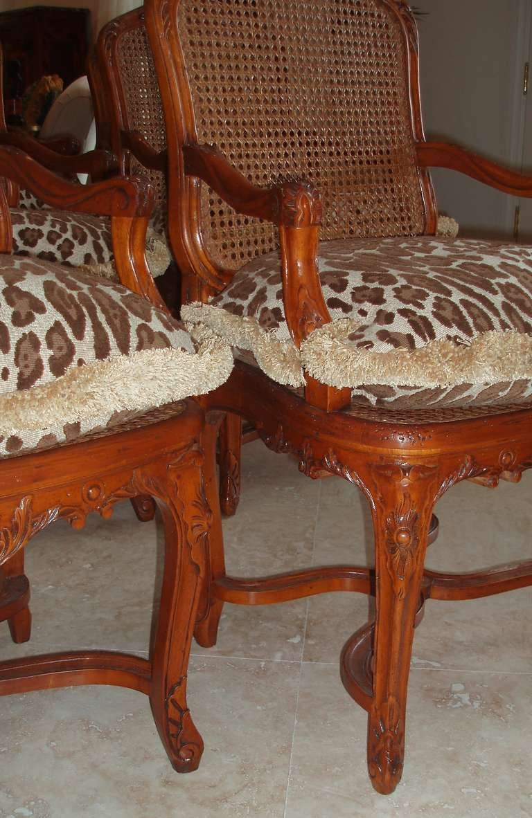 Set of Eight Louis XV Style Armchairs In Good Condition For Sale In Palm Beach, FL