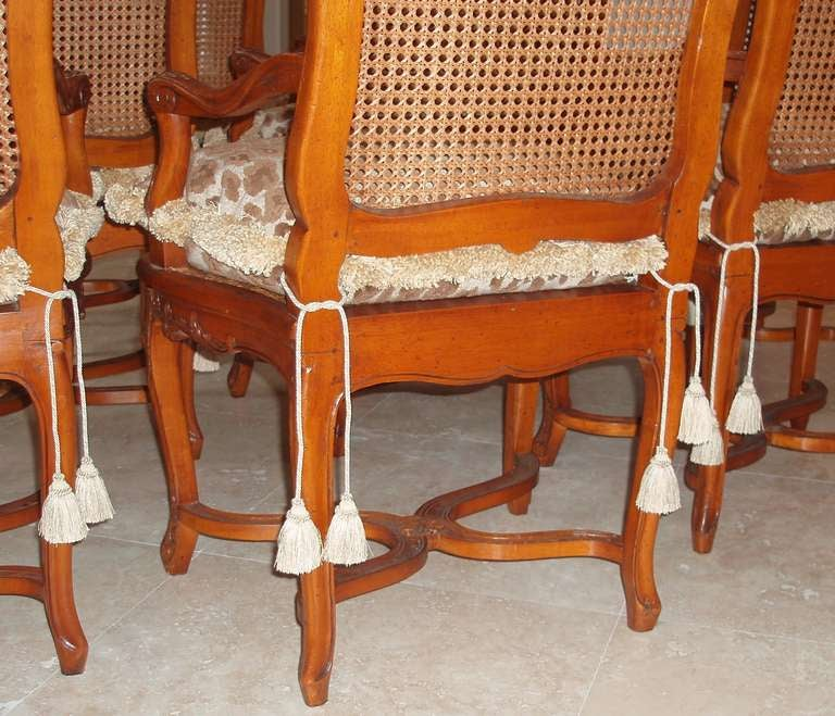 Set of Eight Louis XV Style Armchairs For Sale 1