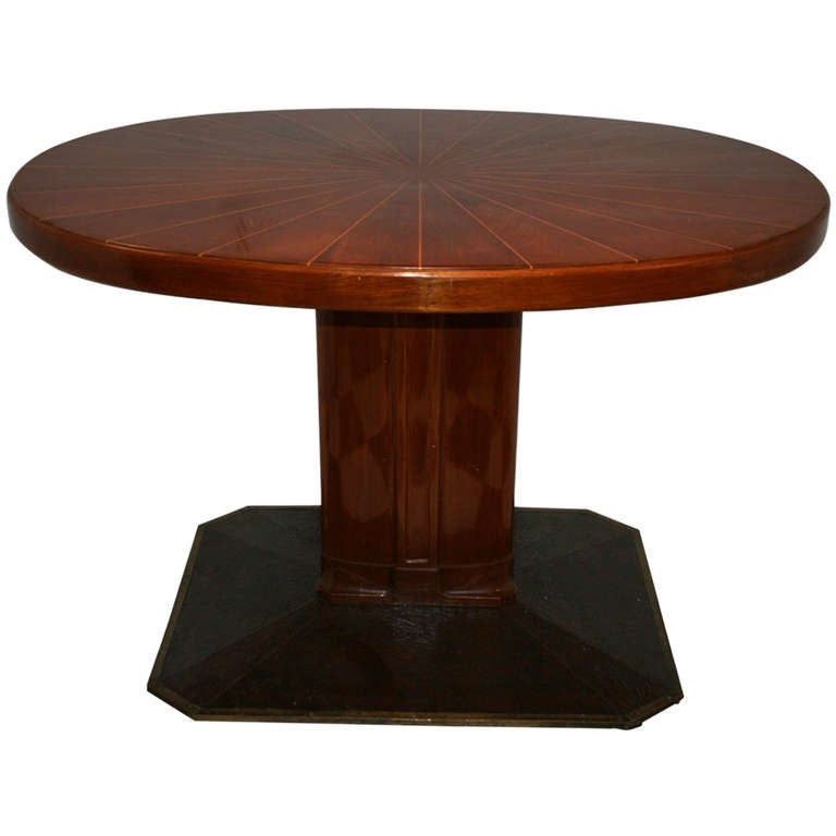 Beautiful oval pedestal table for sale at 1stdibs for Beauty table for sale