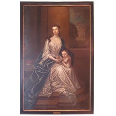 Circle of Sir Godfrey Kneller-Duchess of Buckingham and Marquis of Normandy