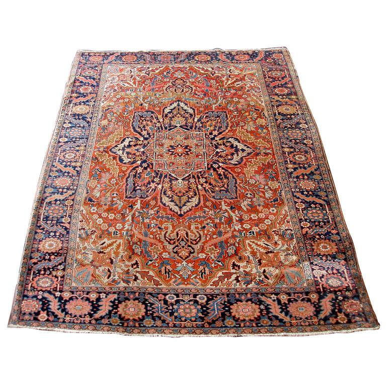 Elegant Persian Heriz Rug