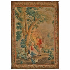 Charming 18th Century Aubusson Pastoral Tapestry
