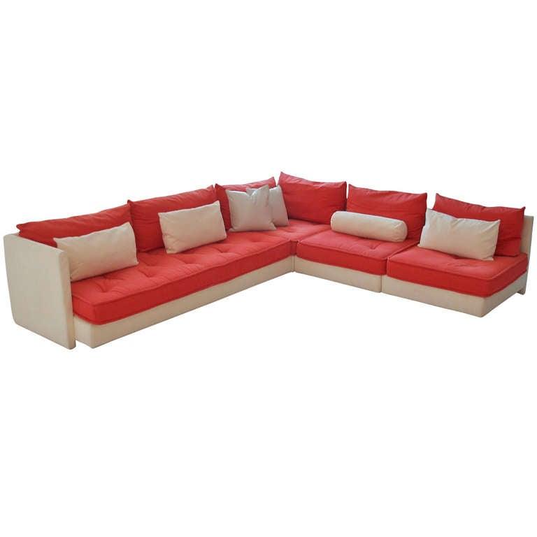 ligne roset nomade upholstered sectional sofa at 1stdibs. Black Bedroom Furniture Sets. Home Design Ideas