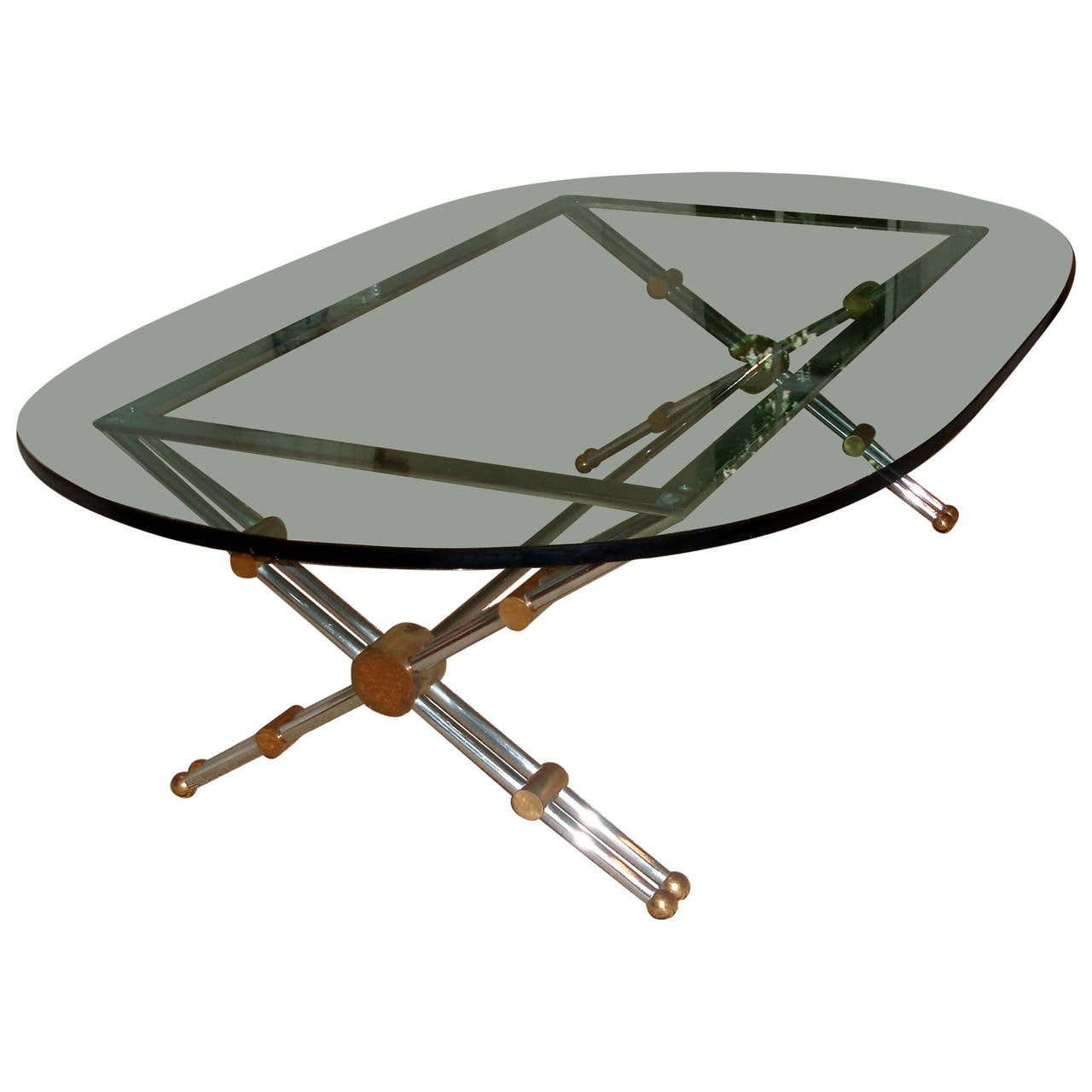 Modernist Glass Top Coffee Table For Sale At 1stdibs