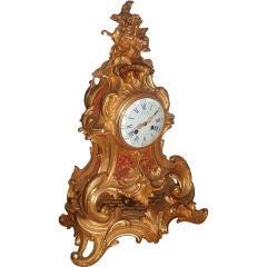 Bronze Doré Mantel Clock