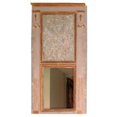 Large Louis XVI Carved Trumeau Mirror