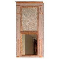 Large Louis XVI Carved Trumeau Mirror