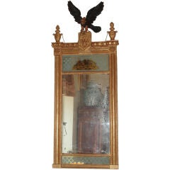 Giltwood & Eglomise Regency Mirror