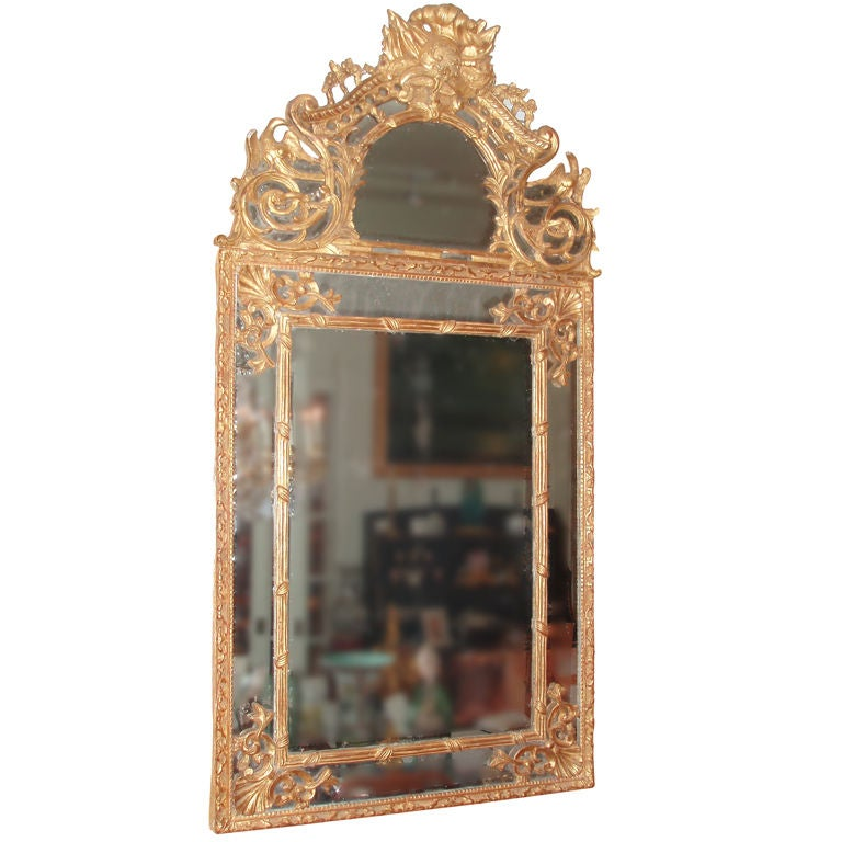 Carved and Gilded Regence Framed Mirror