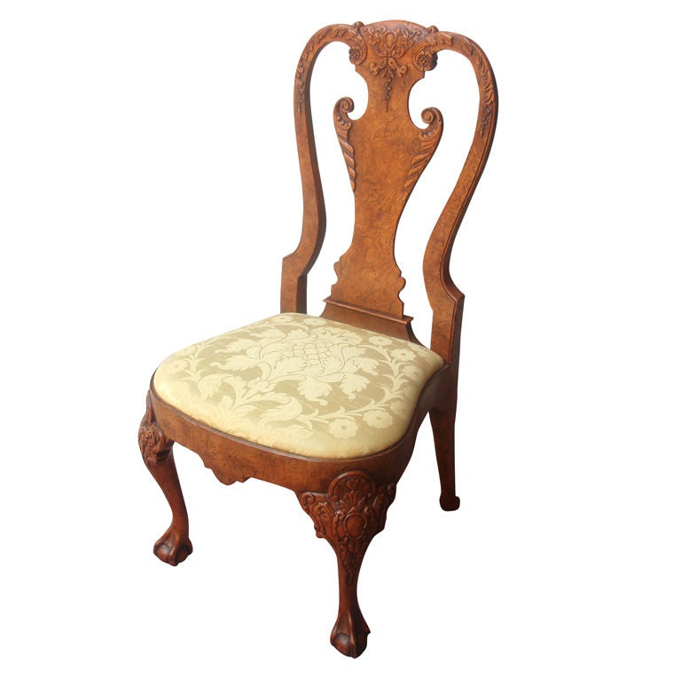 Eight remarkable queen anne style side chairs for sale at for Queen anne furniture