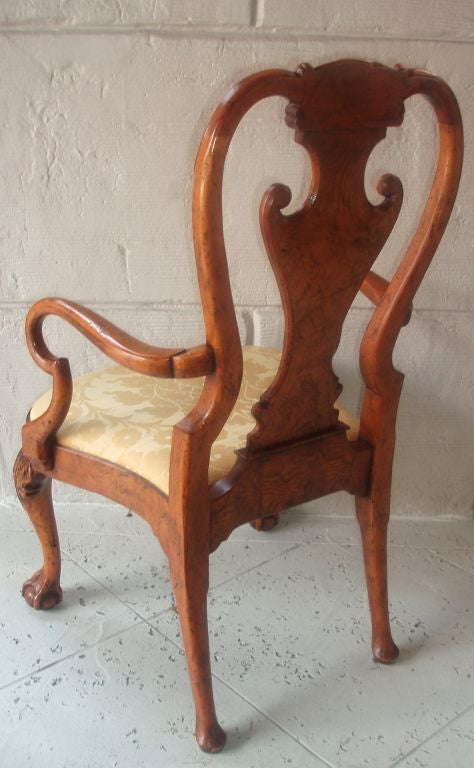 Four Queen Anne Style Armchairs In Good Condition For Sale In Palm Beach, FL