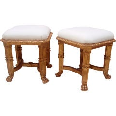 Very Handsome Directoire Style Giltwood Tabouret