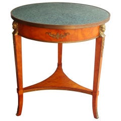 Tripod Table with Verdigris Stone Top