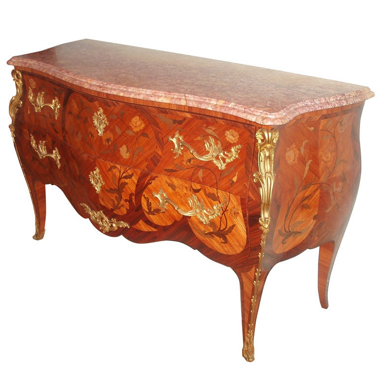 louis xv style commode for sale at 1stdibs. Black Bedroom Furniture Sets. Home Design Ideas