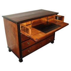 English Regency Walnut and Ebony Secretaire-Chest
