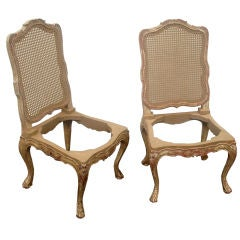 Pair of 18th Century Louis XV/Regence Style Side/Dining Chair