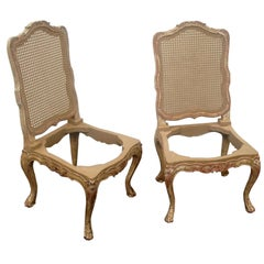 Pair of 18th Century Style Italianate Side/Dining Chair