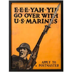 E-E-E-YAH-YIP World War I U.S. Marines Recruitment Poster
