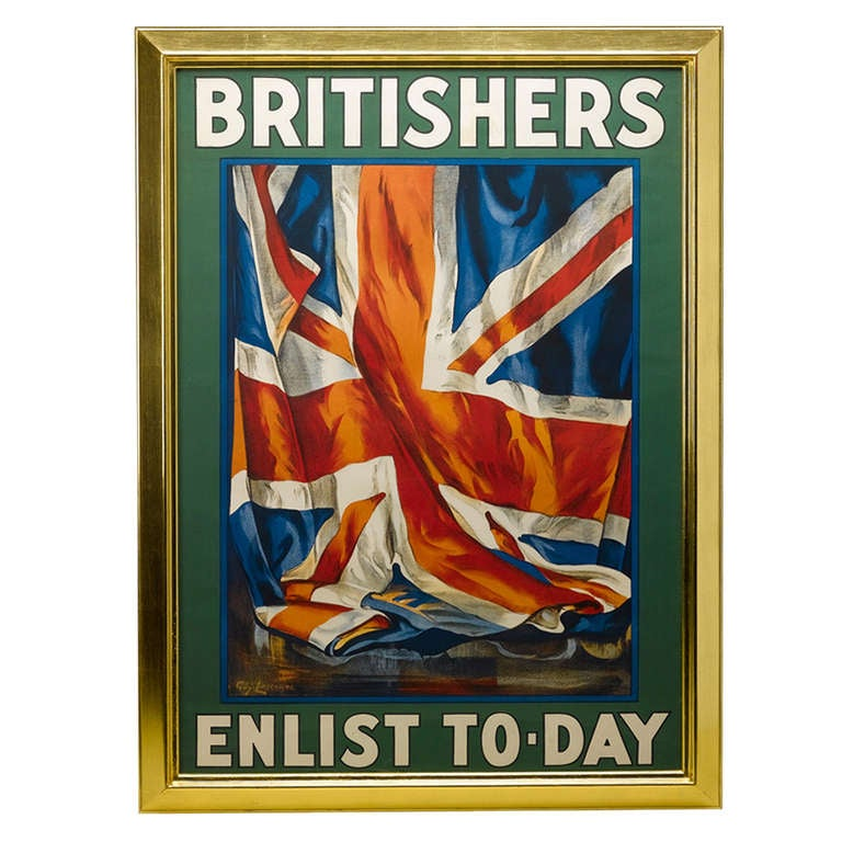 1917 Original British Recruitment Rail Office Poster by Guy Lipscombe For Sale