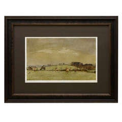 """The Meynell at Bantley Carr"" Signed Fox Hunting Print by Lionel Edwards"