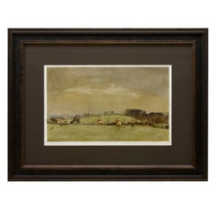 """The Meynell at Bantley Carr"" Signed by Lionel Edwards, Fox Hunting Print, 1937"