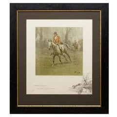 """""""Merry England and Worth a Guinea a Minute"""" Signed Print by Snaffles, circa 1920"""