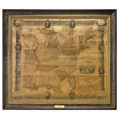 1839 Chapin's Ornamental Map of the United States