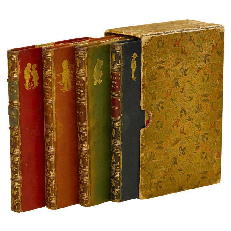 Christopher Robin and Winnie the Pooh Complete Set of Books in Period Bindings 1