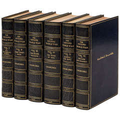 "Winston Churchill ""The Second World War,"" First Editions in Period Leather"