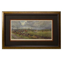 """""""The Bicester & Warden Hill"""" by Frank Stewart, Vintage Signed Print, 1935"""