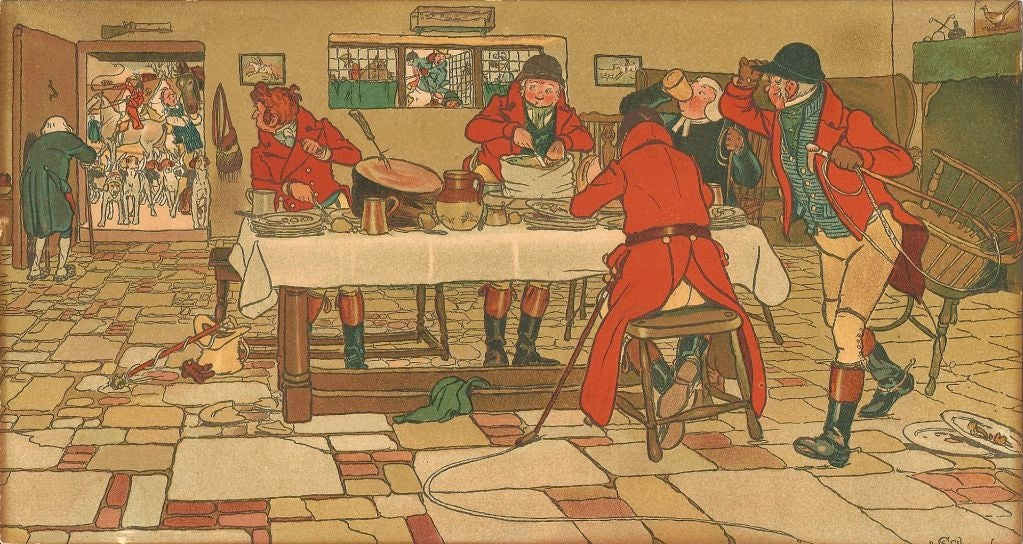 Cecil Aldin Set of Five First Edition Prints of the Fallowfield Hunt Club In Excellent Condition In Colorado Springs, CO