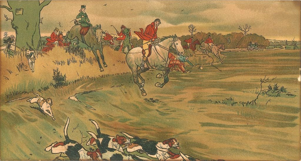 20th Century Cecil Aldin Set of Five First Edition Prints of the Fallowfield Hunt Club