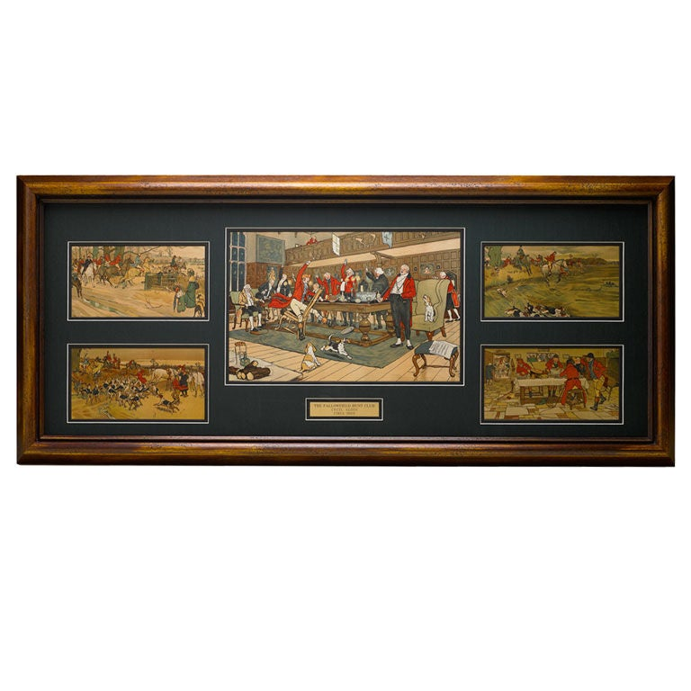 Cecil Aldin Set of Five First Edition Prints of the Fallowfield Hunt Club