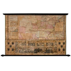 1843 Republic of Texas United States Wall Map