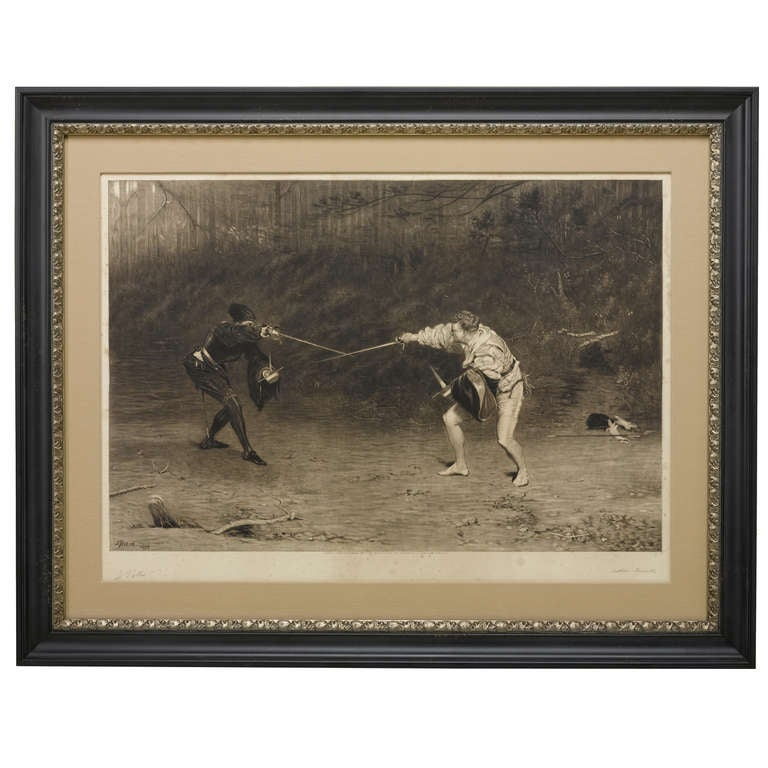 """Hattori Hd Knives: """"To The Death, A Sword And Dagger Fight"""" By John Pettie"""