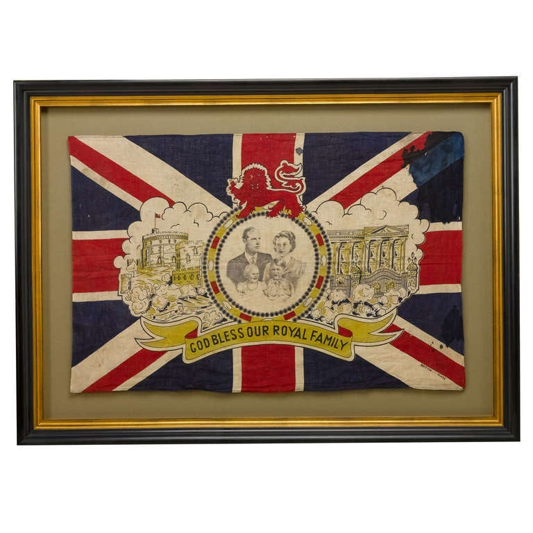 British Commemorative Flag of Queen Elizabeth and the Royal Family ...