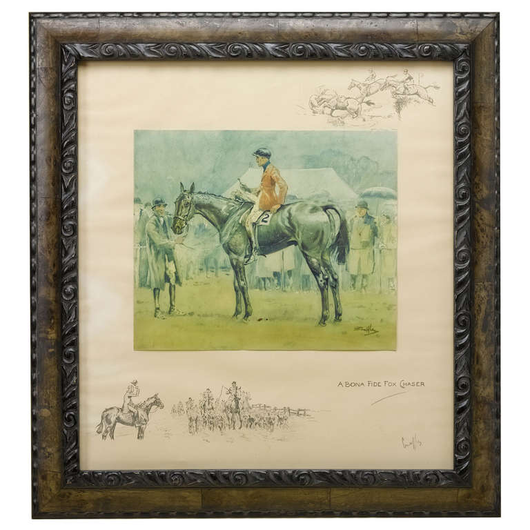 A Bona Fide Fox Chaser Signed By Charles Johnson Payne