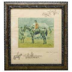 """A Bona Fide Fox Chaser"" Signed Print by Charles Johnson Payne by Snaffles"