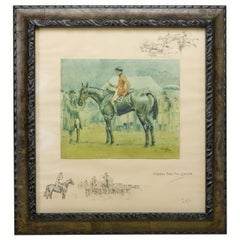 """""""A Bona Fide Fox Chaser"""" Signed Print by Charles Johnson Payne by Snaffles"""