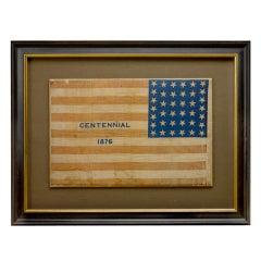 "38-Star ""Centennial"" American Parade Flag, Colorado Statehood"