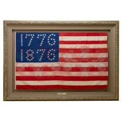 """Rare 81-Star """"1776-1876"""" Centennial American Parade Flag"""