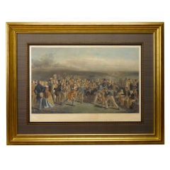 """The Golfers,"" Print of the Grand Match Played Over St. Andrews Links by Lees"